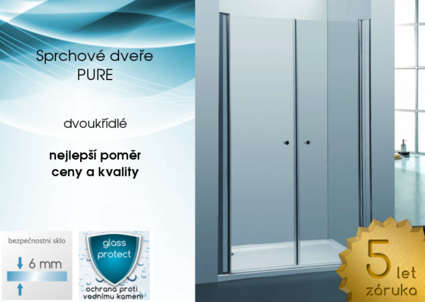 dvoukřídlé sprchové dveře PURE